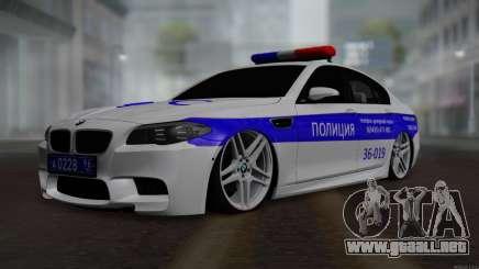 BMW M5 F10 Policía para GTA San Andreas