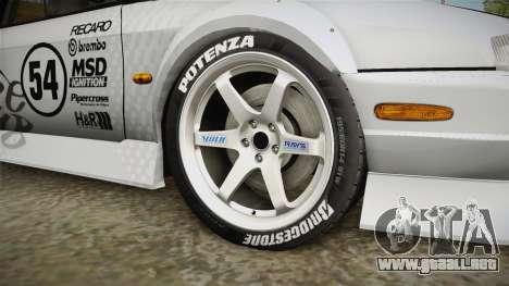 Nissan 200SX (S14) para GTA San Andreas vista hacia atrás