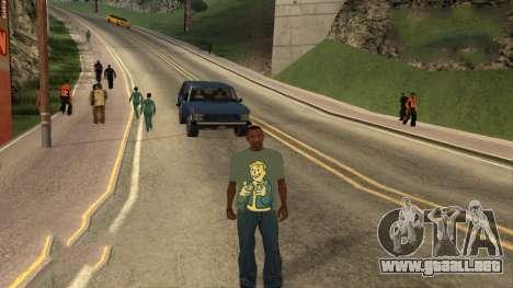 T-Shirt De Fallout para GTA San Andreas tercera pantalla
