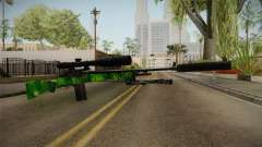 Green Sniper Rifle para GTA San Andreas