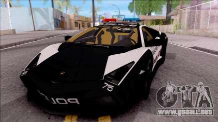 Lamborghini Reventon High Speed Police para GTA San Andreas