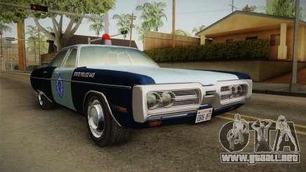 Plymouth Fury 1972 Massachusetts State Police para GTA San Andreas