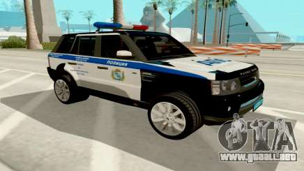 Range Rover Sport Police para GTA San Andreas