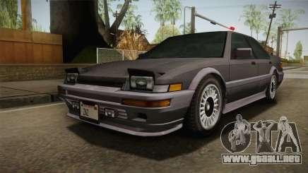 GTA 4 Dinka Hakumai Tuned Bumpers para GTA San Andreas
