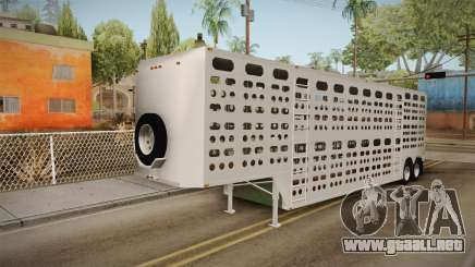 Double Trailer Livestock v3 para GTA San Andreas
