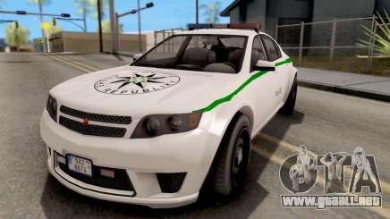 GTA V Cheval Fugitive Police Czech Old Style para GTA San Andreas