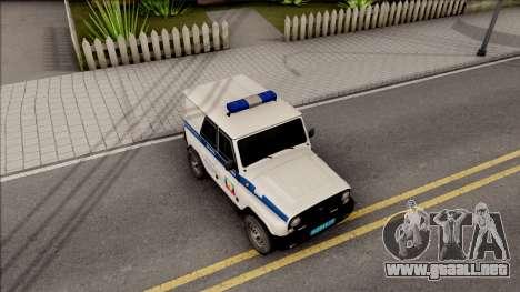 UAZ Hunter Policía para la visión correcta GTA San Andreas
