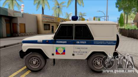 UAZ Hunter Policía para GTA San Andreas left