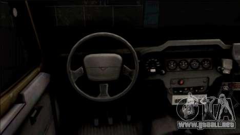 UAZ Hunter Policía para visión interna GTA San Andreas