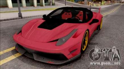Ferrari 458 Italia Misha Design para GTA San Andreas