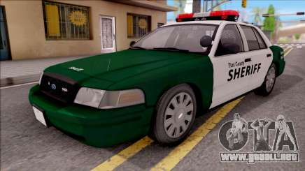Ford Crown Victoria Flint County Sheriff 2010 para GTA San Andreas