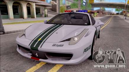 Ferrari 458 Italia Dubai High Speed Police para GTA San Andreas