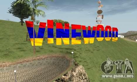 New Vinewood Armenian para GTA San Andreas sucesivamente de pantalla