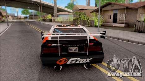 Driftstyle Buffalo para GTA San Andreas vista posterior izquierda