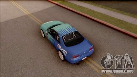 Nissan Skyline R33 Drift Falken para GTA San Andreas vista hacia atrás
