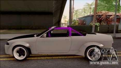 Nissan Skyline R33 Cabrio Drift Rocket Bunny para GTA San Andreas left