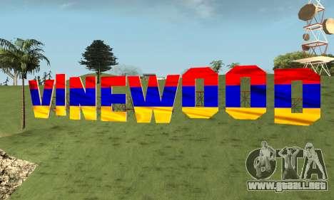New Vinewood Armenian para GTA San Andreas segunda pantalla