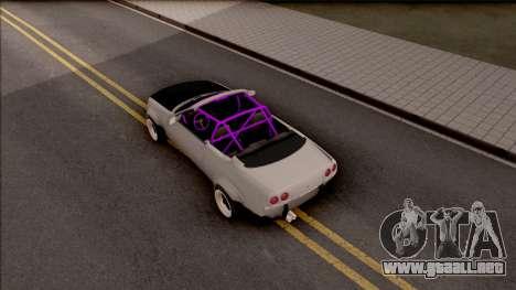 Nissan Skyline R33 Cabrio Drift Rocket Bunny para GTA San Andreas vista hacia atrás
