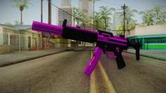 Purple MP5 para GTA San Andreas