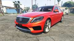 Mercedes-Benz S63 red brake caliper [add-on] para GTA 5
