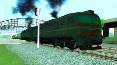 Locomotora de carga 2M62 1184 para GTA San Andreas