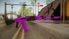 Purple AK47 para GTA San Andreas