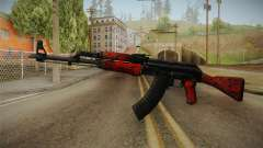 CS: GO AK-47 Red Laminate Skin para GTA San Andreas