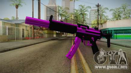 Purple MP5 para GTA San Andreas