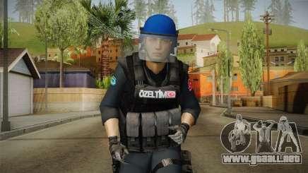 Turkish Police-Rapid Response Unit with Gear para GTA San Andreas