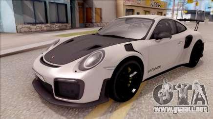 Porsche 911 GT2 RS 2017 EU Plate para GTA San Andreas