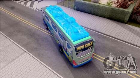 New Khan Bus G para GTA San Andreas vista hacia atrás