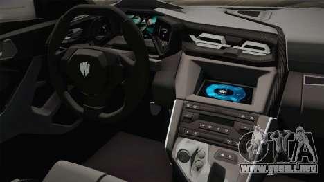 W Motors - Fenyr Supersports 2017 Dubai Plate para visión interna GTA San Andreas