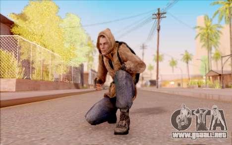 Degtyarev chaqueta novato de S. T. A. L. K. E. R para GTA San Andreas quinta pantalla