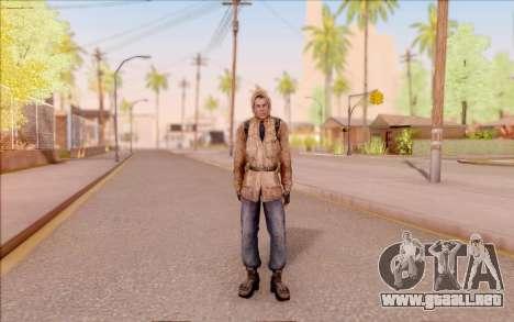 Degtyarev chaqueta novato de S. T. A. L. K. E. R para GTA San Andreas segunda pantalla