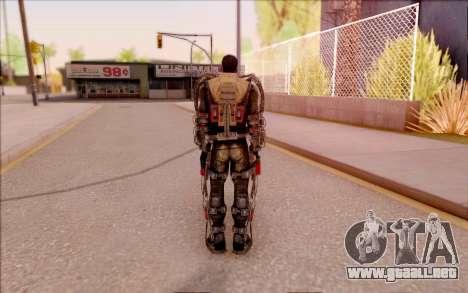 Degtyarev en el exoesqueleto de S. T. A. L. K. E para GTA San Andreas quinta pantalla