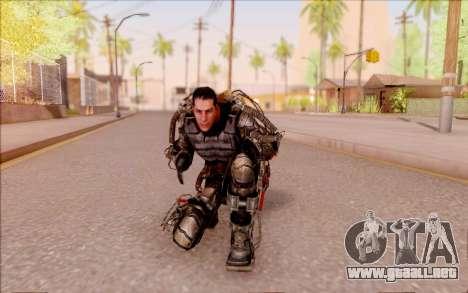 Degtyarev en el exoesqueleto de S. T. A. L. K. E para GTA San Andreas sexta pantalla