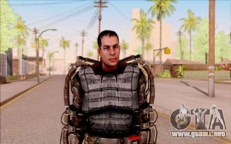 Degtyarev en el exoesqueleto de S. T. A. L. K. E para GTA San Andreas segunda pantalla