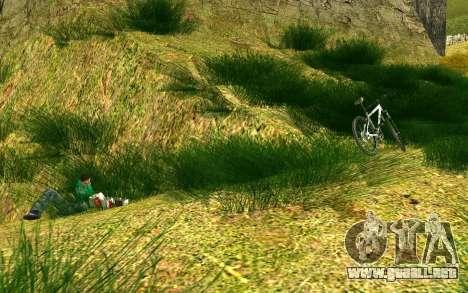 Una parte de los ciclistas en la naturaleza para GTA San Andreas quinta pantalla