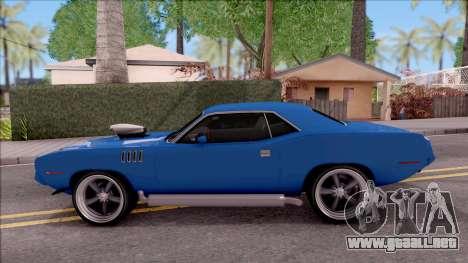 Plymouth Hemi Cuda 426 1971 para GTA San Andreas left