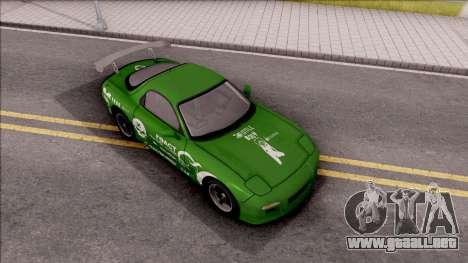 Mazda RX-7 NFS Undercover v2 para la visión correcta GTA San Andreas