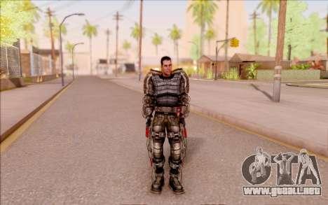 Degtyarev en el exoesqueleto de S. T. A. L. K. E para GTA San Andreas tercera pantalla
