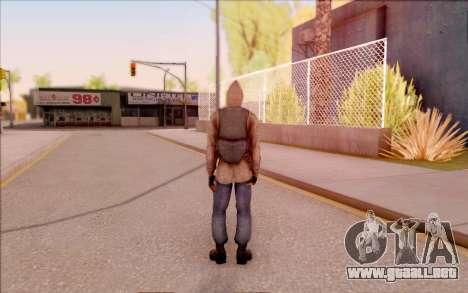 Degtyarev chaqueta novato de S. T. A. L. K. E. R para GTA San Andreas sucesivamente de pantalla