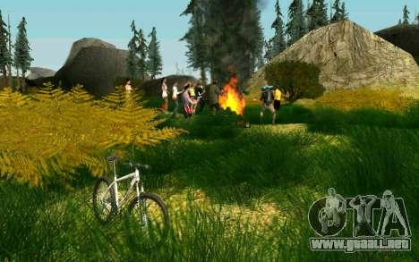 Una parte de los ciclistas en la naturaleza para GTA San Andreas tercera pantalla