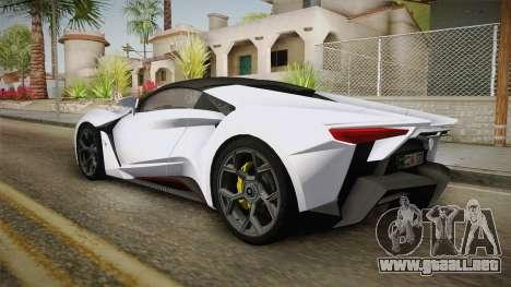W Motors - Fenyr Supersports 2017 Dubai Plate para GTA San Andreas left