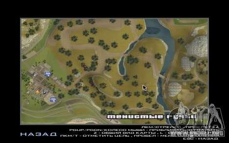 Una parte de los ciclistas en la naturaleza para GTA San Andreas octavo de pantalla