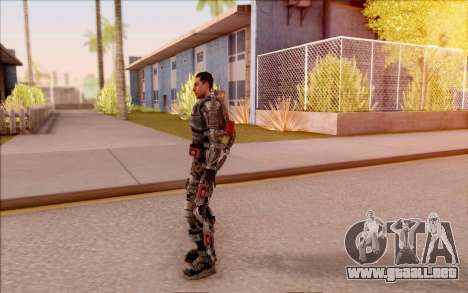 Degtyarev en el exoesqueleto de S. T. A. L. K. E para GTA San Andreas sucesivamente de pantalla