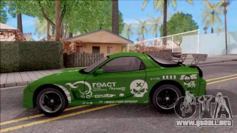 Mazda RX-7 NFS Undercover v2 para GTA San Andreas left