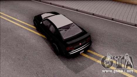 GTA V Bravado Buffalo Edition para GTA San Andreas vista hacia atrás