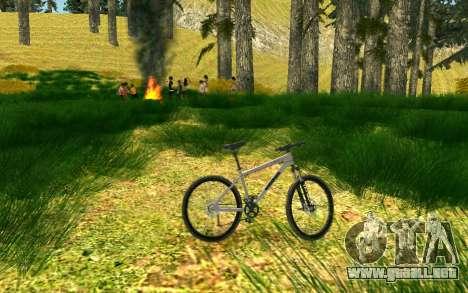 Una parte de los ciclistas en la naturaleza para GTA San Andreas sexta pantalla