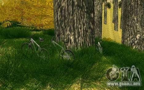 Una parte de los ciclistas en la naturaleza para GTA San Andreas séptima pantalla